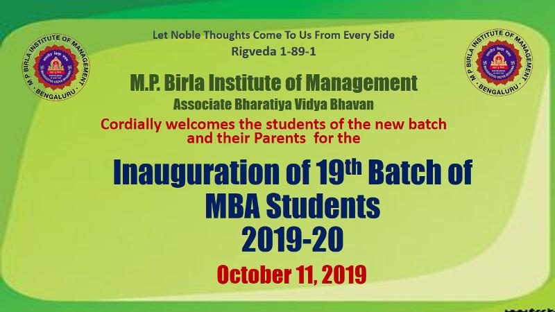 Inauguration of 2019-21 batch